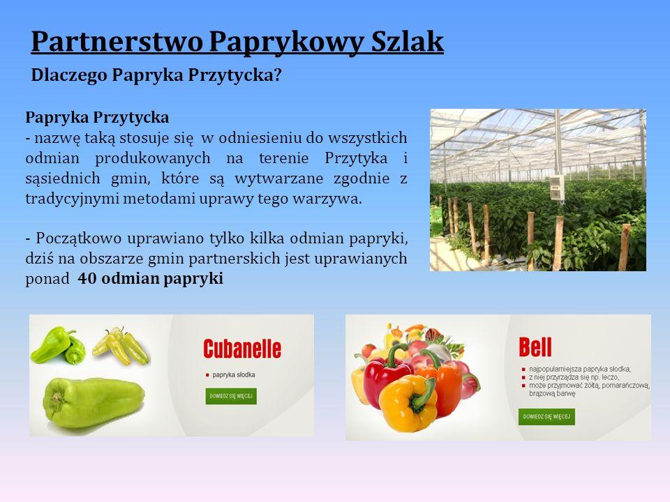 Partnerstwo Paprykowy Szlak Dlaczego Papryka Przytycka? Papryka Przytycka - nazwę taką stosuje się w odniesieniu do wszystkich odmian produkowanych na