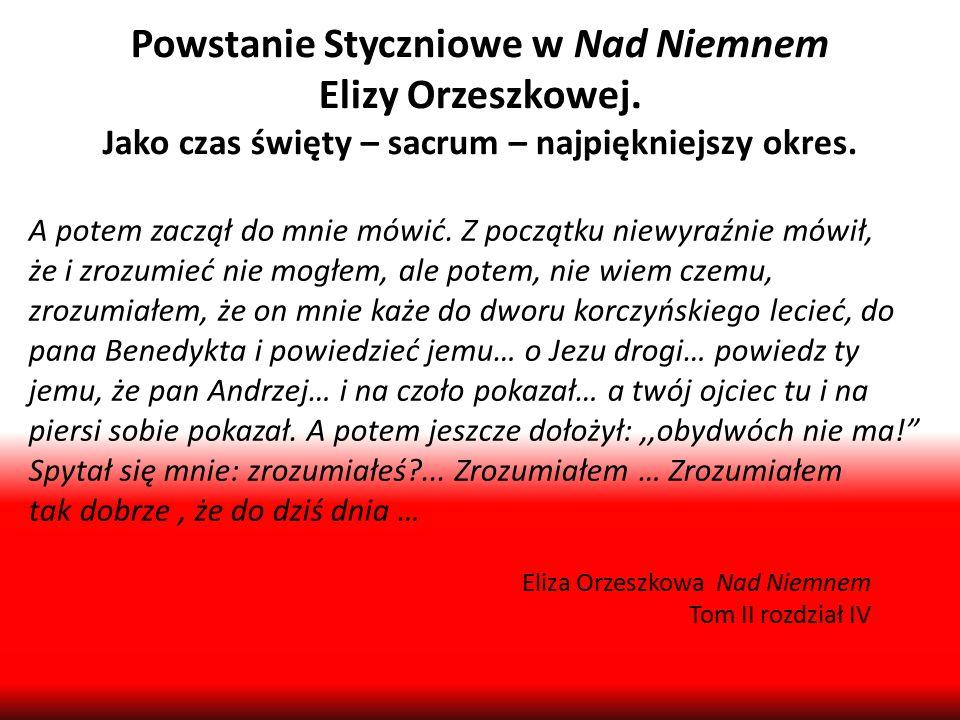 Powstanie Styczniowe w Nad Niemnem Elizy Orzeszkowej.