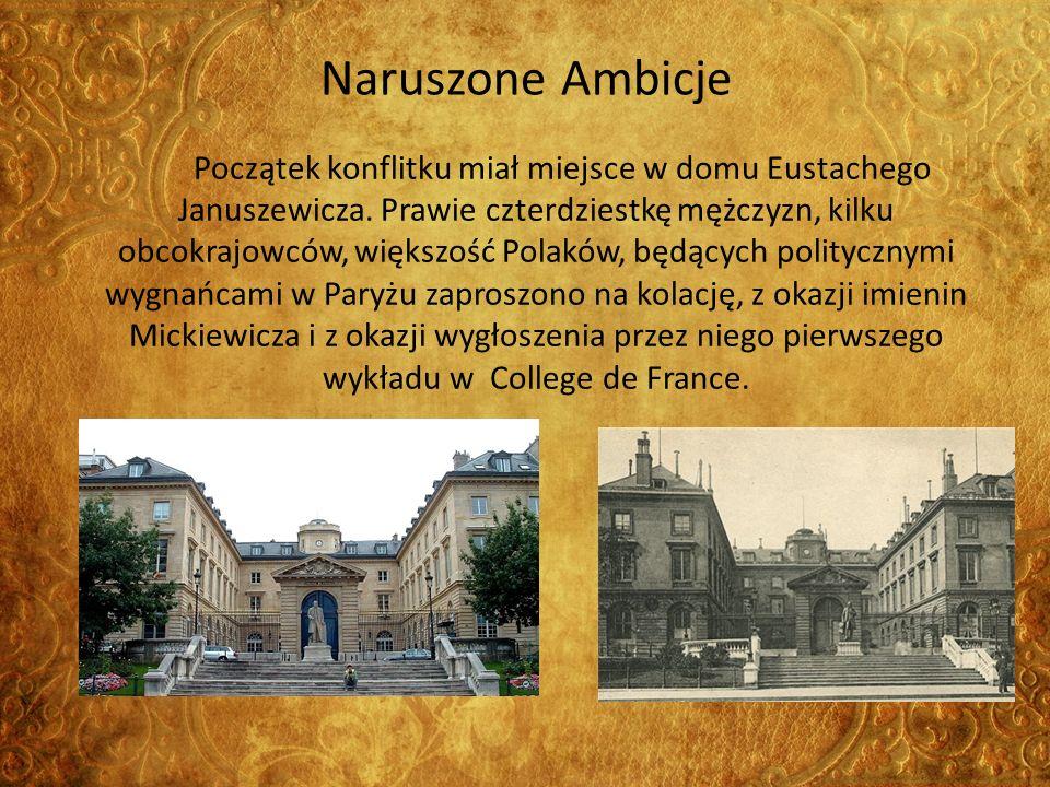 Naruszone Ambicje Początek konflitku miał miejsce w domu Eustachego Januszewicza.