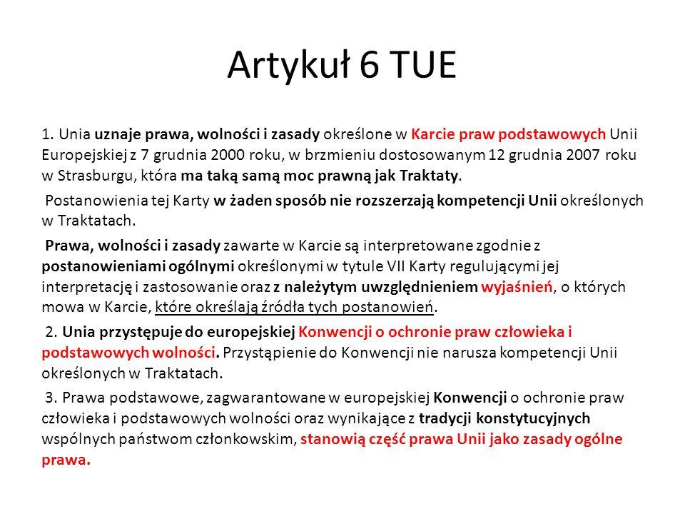 Artykuł 6 TUE 1.