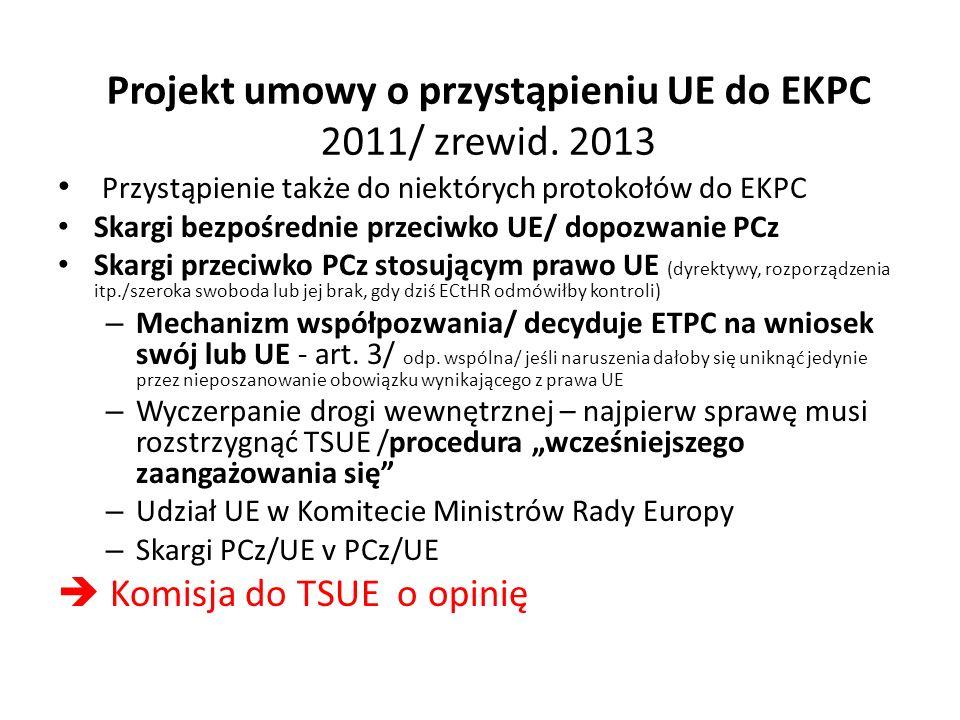 Projekt umowy o przystąpieniu UE do EKPC 2011/ zrewid.
