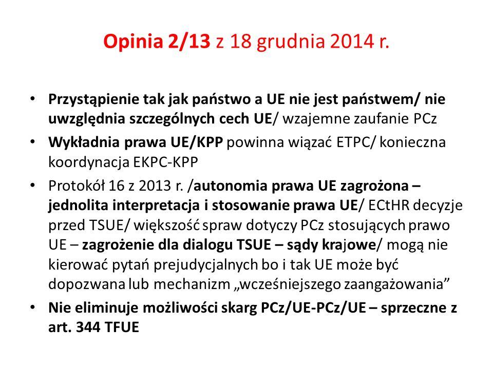 Opinia 2/13 z 18 grudnia 2014 r.