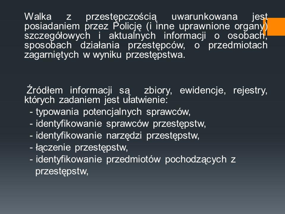 Fakt W zbiorze danych KSIP Fakt rejestruje się i przetwarza informacje o: 1) wydarzeniach podlegających obowiązkowemu zgłoszeniu dyżurnemu Komendy Głównej Policji oraz dyżurnym w komendach wojewódzkich (Stołecznej) Policji zgodnie z katalogiem rodzajów wydarzeń, określonym w przepisach regulujących organizację służby dyżurnej w jednostkach organizacyjnych Policji oraz o wydarzeniach podlegających obowiązkowi rejestracji dla celów Biuletynu KSIP; 2) przestępstwach ściganych z oskarżenia publicznego oraz o popełnionych przez nieletnich czynach zabronionych przez ustawę jako przestępstwa ścigane z oskarżenia publicznego; 3) postępowaniach przygotowawczych w sprawach o przestępstwa zarejestrowane w KSIP w zbiorze Fakt;