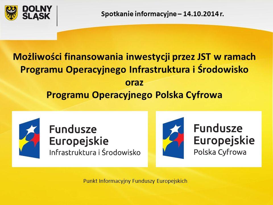 Spotkanie informacyjne – 14.10.2014 r. Punkt Informacyjny Funduszy Europejskich