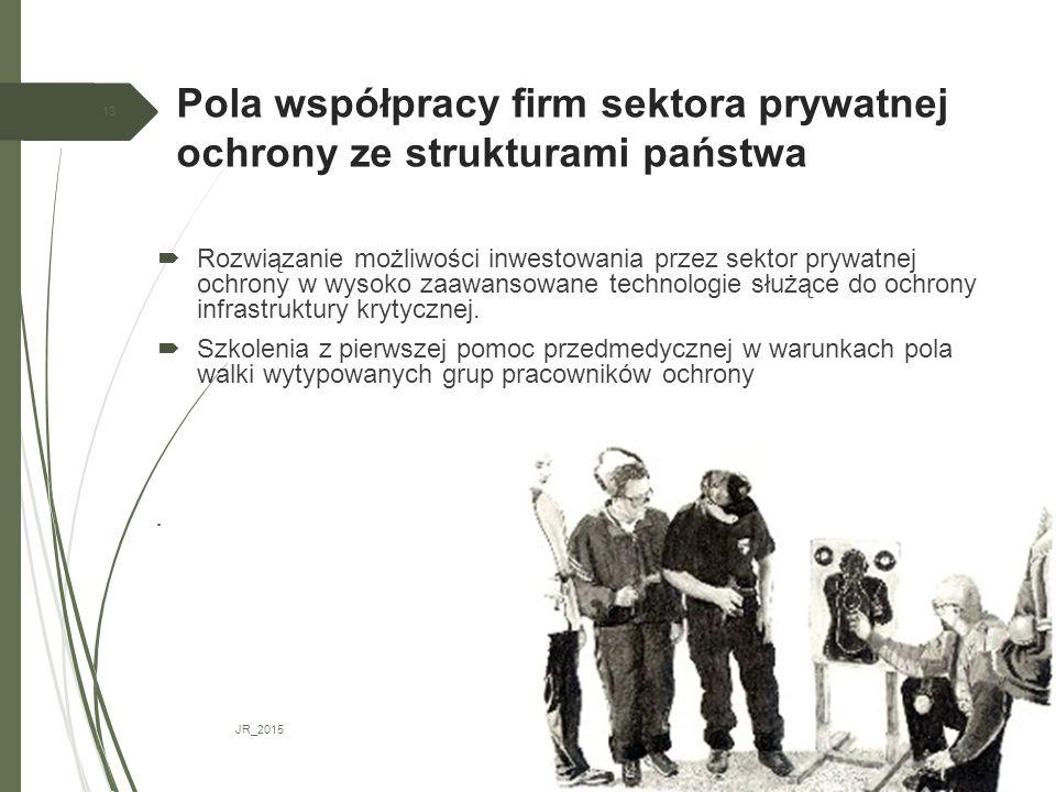 Pola współpracy firm sektora prywatnej ochrony ze strukturami państwa JR_2015 13  Rozwiązanie możliwości inwestowania przez sektor prywatnej ochrony