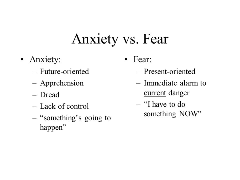 Anxiety vs.