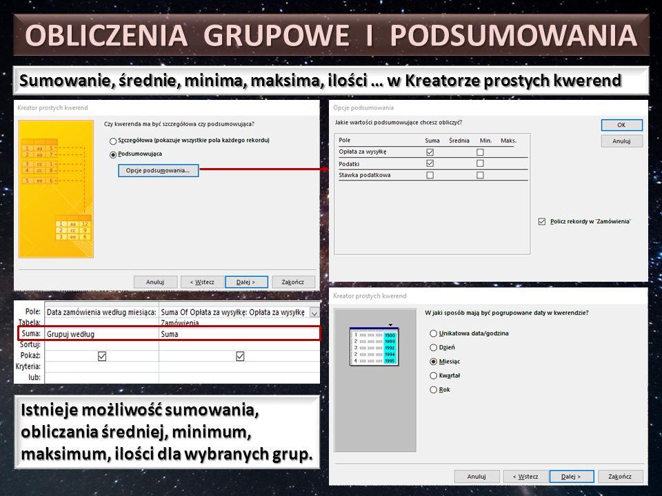 TYPY KWEREND Kwerendy:  Wybierające  Tworzące  Dołączające  Aktualizujące  Krzyżowe  Usuwające  Składające  Przekazujące  Definiujące
