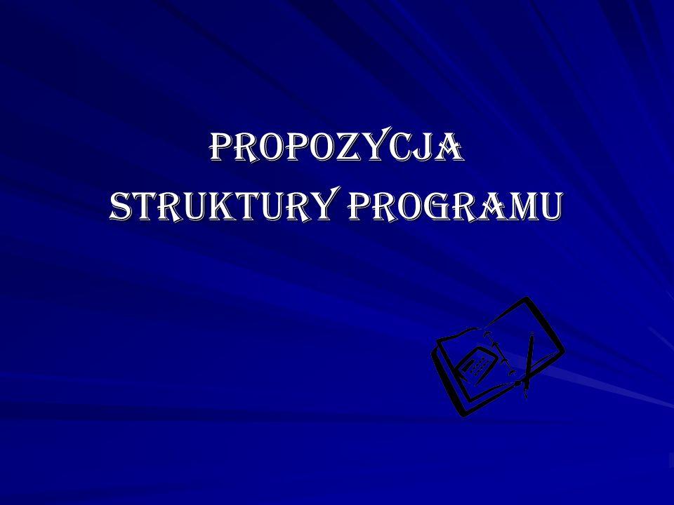 Propozycja struktury programu