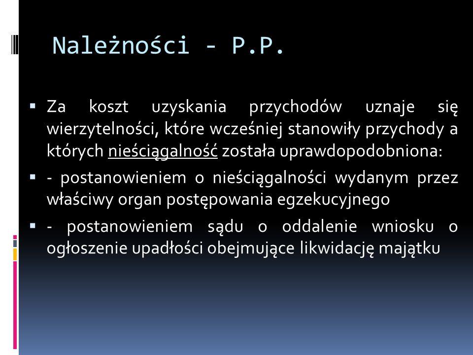 Należności - P.P.