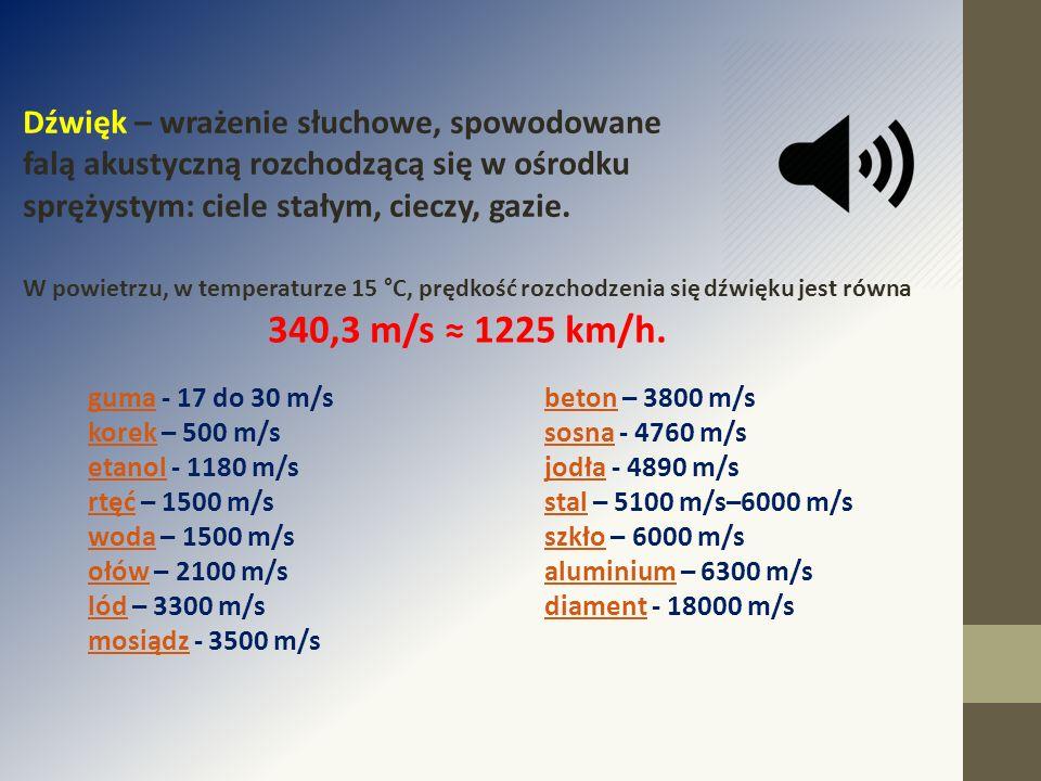 Dźwięk – wrażenie słuchowe, spowodowane falą akustyczną rozchodzącą się w ośrodku sprężystym: ciele stałym, cieczy, gazie. W powietrzu, w temperaturze