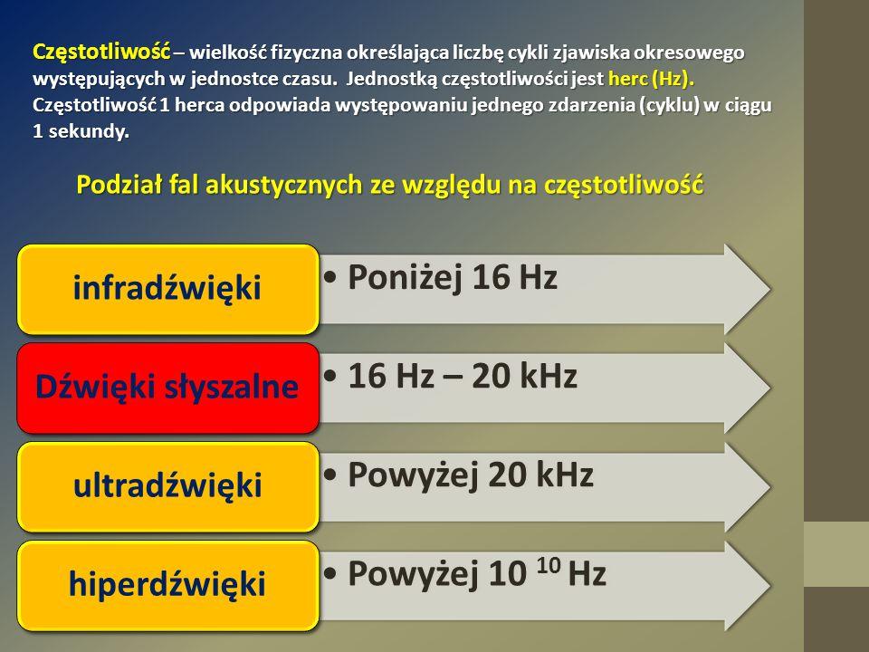 Częstotliwość – wielkość fizyczna określająca liczbę cykli zjawiska okresowego występujących w jednostce czasu. Jednostką częstotliwości jest herc (Hz
