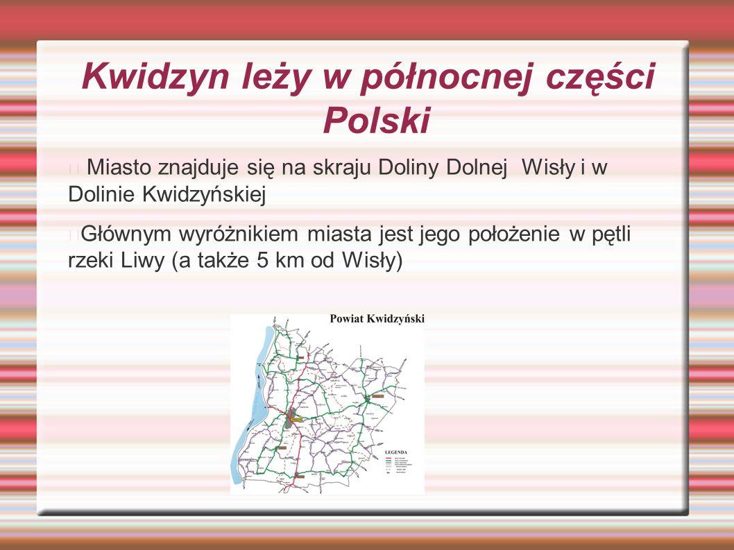 Kwidzyn leży w północnej części Polski Miasto znajduje się na skraju Doliny Dolnej Wisły i w Dolinie Kwidzyńskiej Głównym wyróżnikiem miasta jest jego