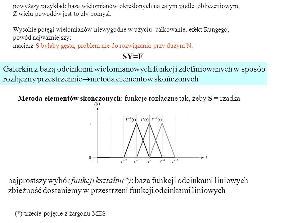 powyższy przykład: baza wielomianów określonych na całym pudle obliczeniowym.