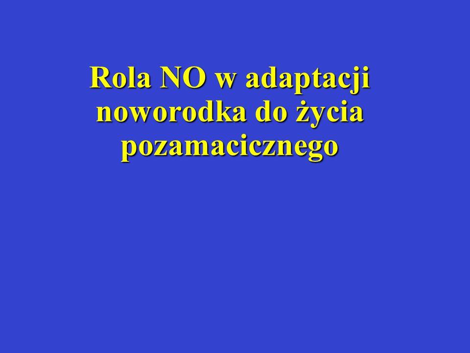 Rola NO w adaptacji noworodka do życia pozamacicznego