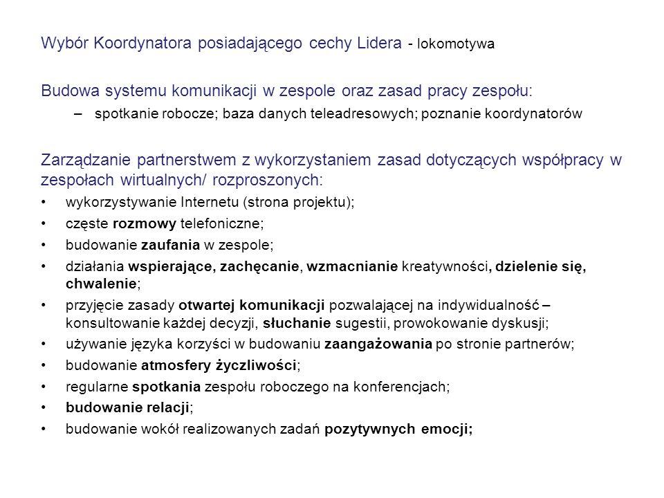 """Osiągnięte rezultaty wdrożenia metody Terminowa realizacja wszystkich zadań objętych projektem """"Włodawski Obszar Funkcjonalny - nowy wymiar partnerstwa w polityce regionalnej ."""