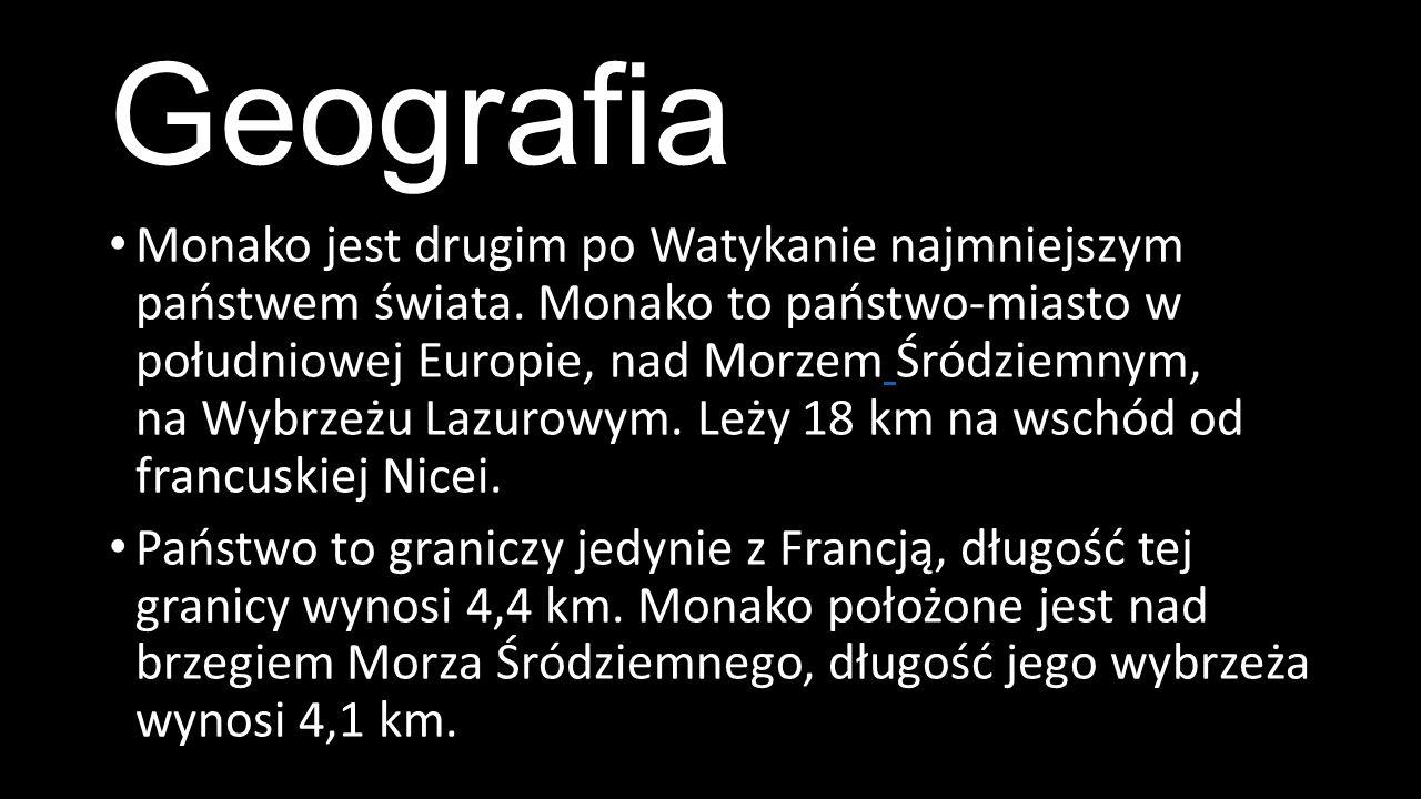Geografia Monako jest drugim po Watykanie najmniejszym państwem świata.