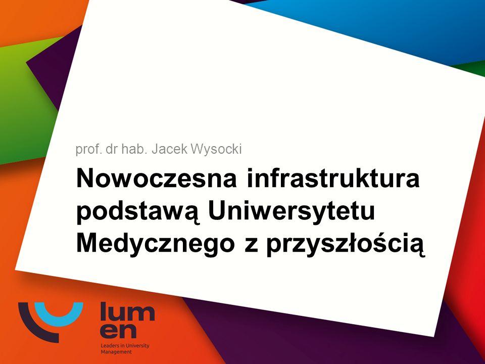 Nowoczesna infrastruktura podstawą Uniwersytetu Medycznego z przyszłością prof. dr hab. Jacek Wysocki