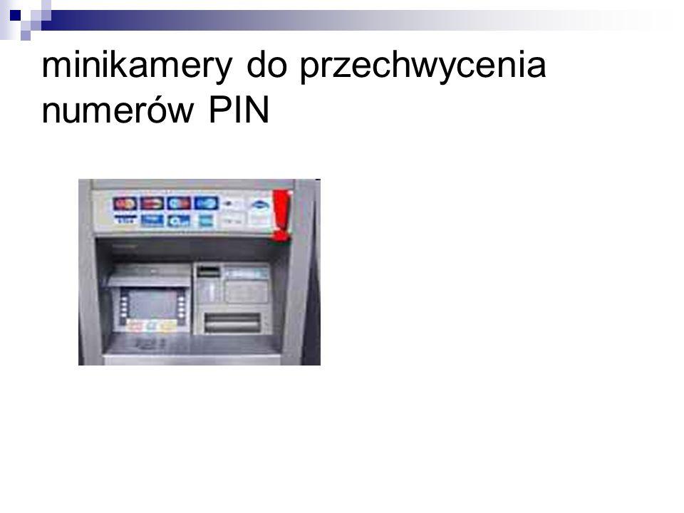 minikamery do przechwycenia numerów PIN