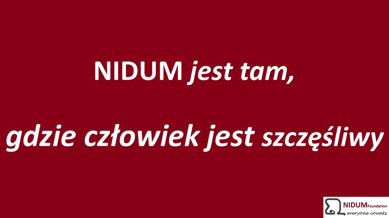NIDUM jest tam, gdzie człowiek jest szczęśliwy