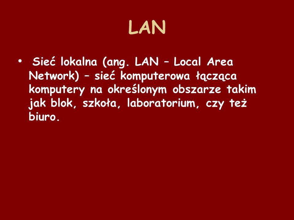 MAN Duża sieć komputerowa, której zasięg obejmuje aglomerację lub miasto.