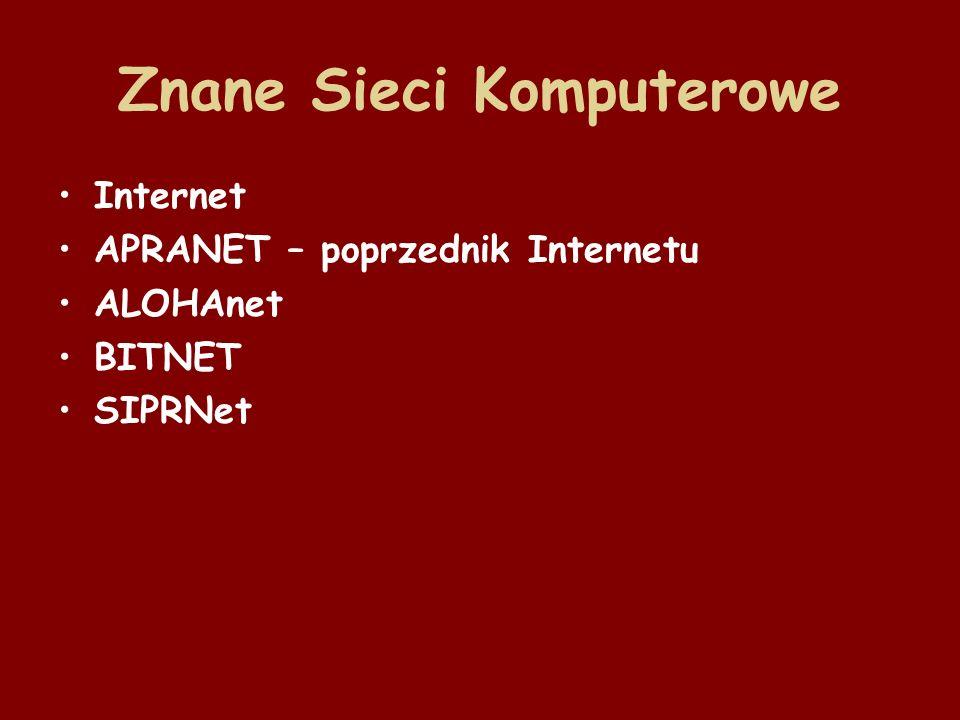 Sieci komputerowe Podział sieci ze względu na ich zasięg terytorialny: