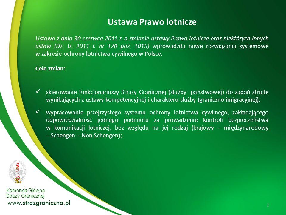 Komenda Główna Straży Granicznej Ustawa z dnia 30 czerwca 2011 r. o zmianie ustawy Prawo lotnicze oraz niektórych innych ustaw (Dz. U. 2011 r. nr 170