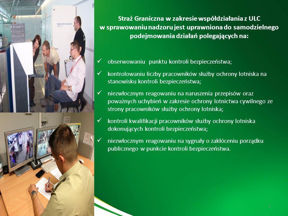 Komenda Główna Straży Granicznej 5 Straż Graniczna w zakresie współdziałania z ULC w sprawowaniu nadzoru jest uprawniona do samodzielnego podejmowania