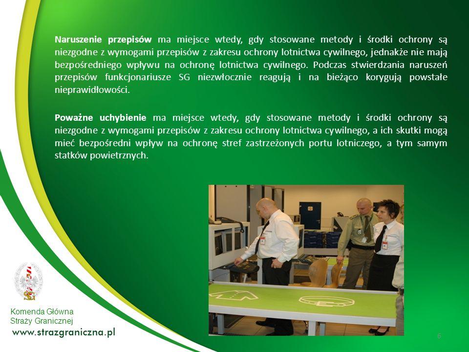 Komenda Główna Straży Granicznej 6 Naruszenie przepisów ma miejsce wtedy, gdy stosowane metody i środki ochrony są niezgodne z wymogami przepisów z za