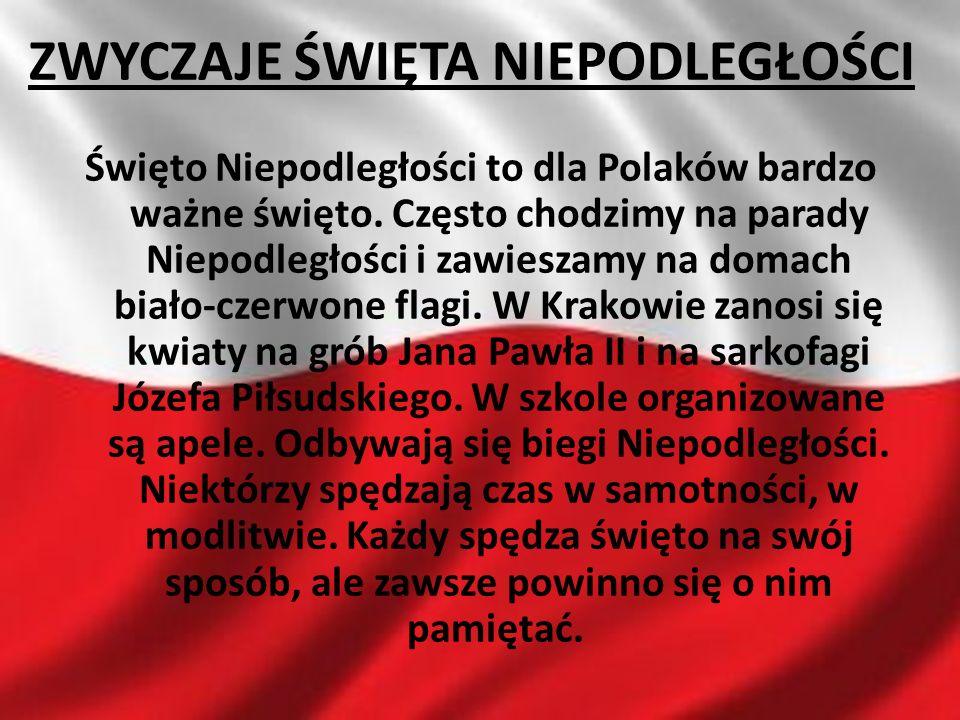 Święto Niepodległości to dla Polaków bardzo ważne święto. Często chodzimy na parady Niepodległości i zawieszamy na domach biało-czerwone flagi. W Krak