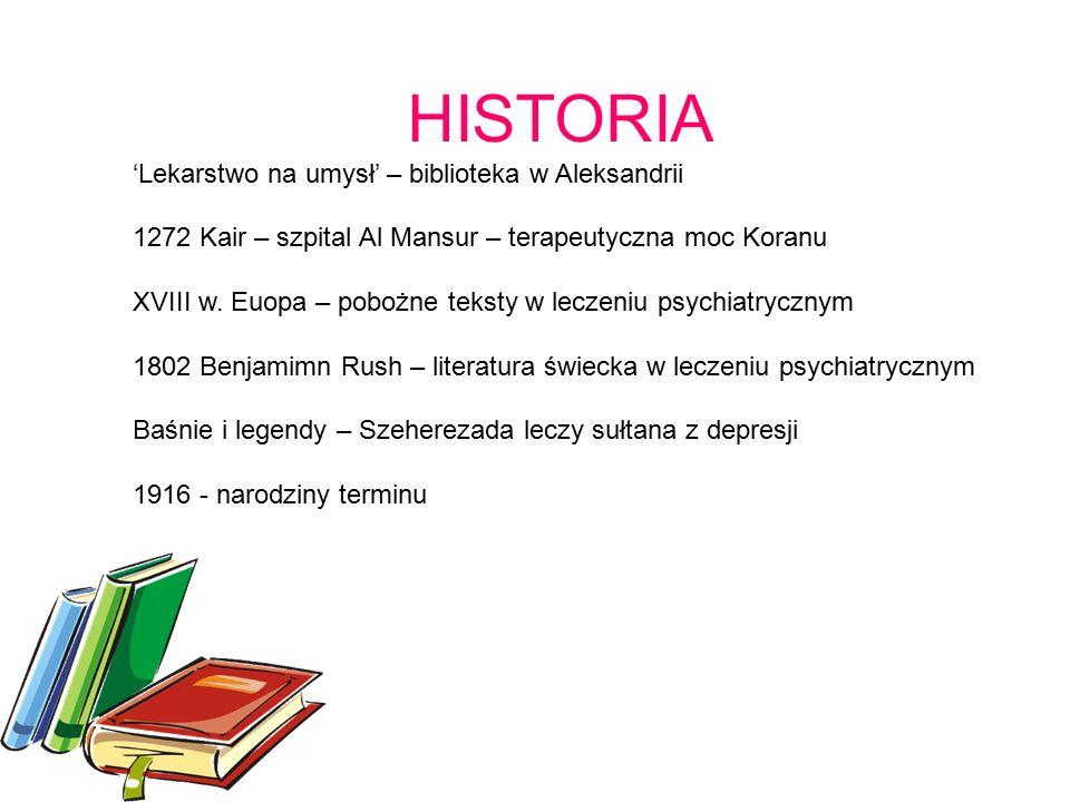 HISTORIA 'Lekarstwo na umysł' – biblioteka w Aleksandrii 1272 Kair – szpital Al Mansur – terapeutyczna moc Koranu XVIII w.