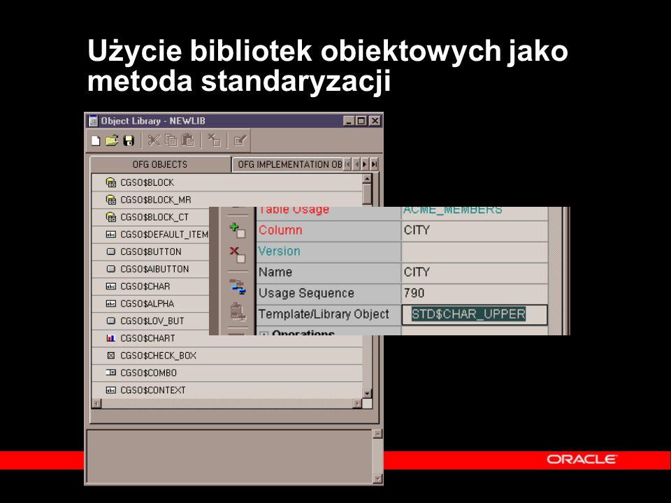 Użycie bibliotek obiektowych jako metoda standaryzacji