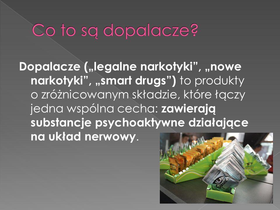 naturalne – tzw.spice, czyli susze i kadzidełka, syntetyczne – tzw.