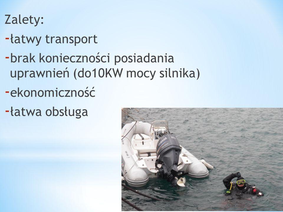 Zalety: - łatwy transport - brak konieczności posiadania uprawnień (do10KW mocy silnika) - ekonomiczność - łatwa obsługa