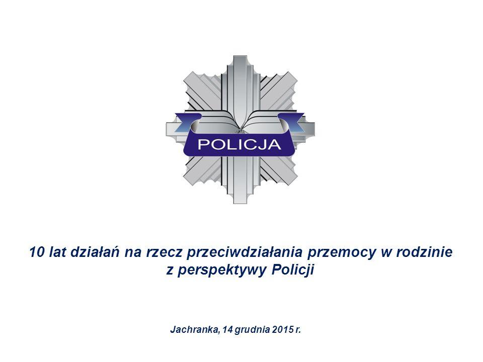 10 lat działań na rzecz przeciwdziałania przemocy w rodzinie z perspektywy Policji Jachranka, 14 grudnia 2015 r.