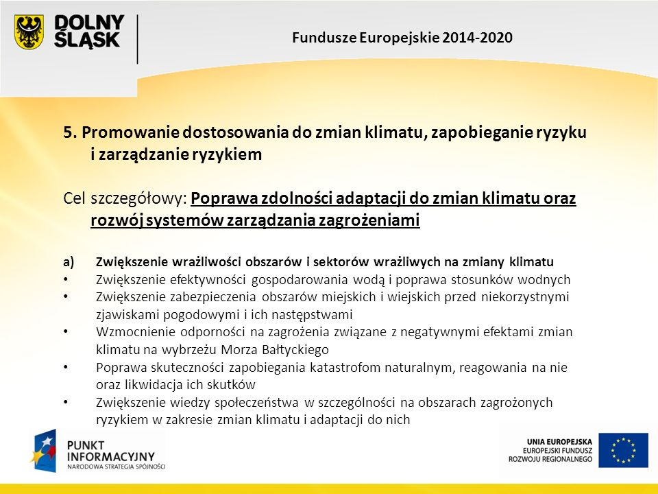 Fundusze Europejskie 2014-2020 5.