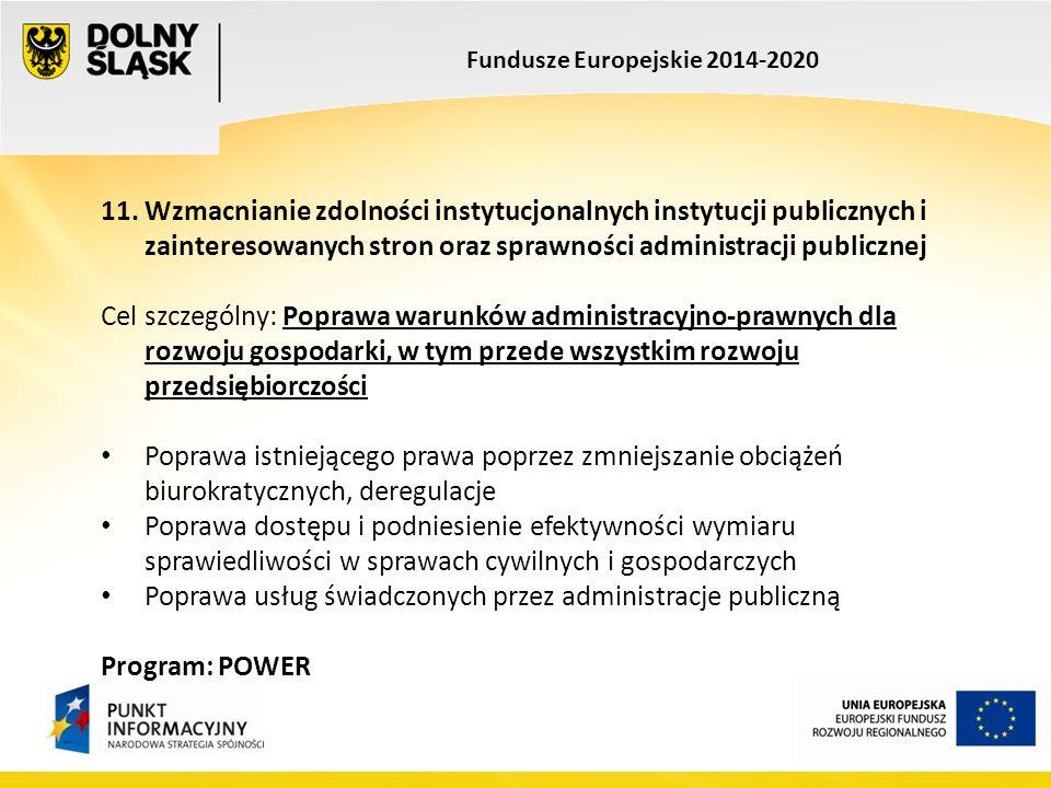 Fundusze Europejskie 2014-2020 11.