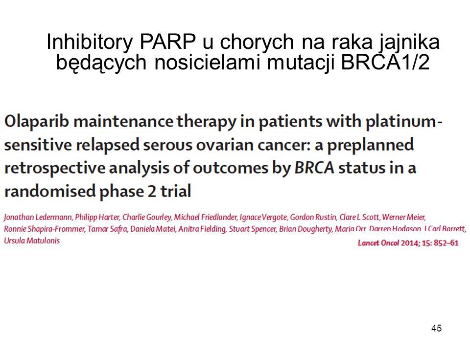 Inhibitory PARP u chorych na raka jajnika będących nosicielami mutacji BRCA1/2 45