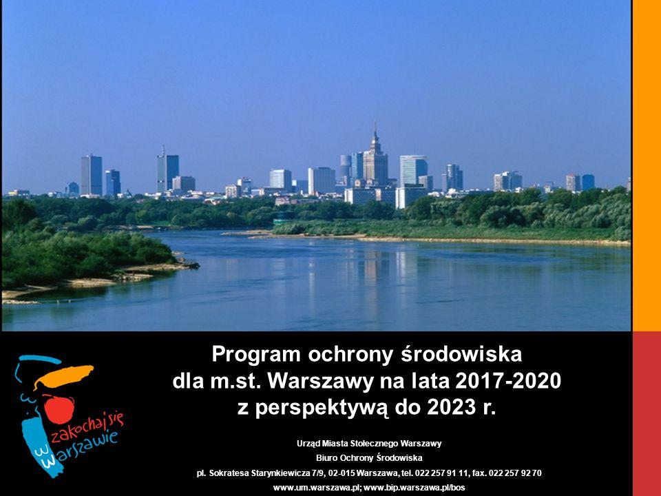 Kompleksowa Gospodarka Odpadami - Przykład m.st. Warszawy Program ochrony środowiska dla m.st.