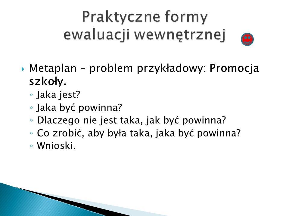  Metaplan – problem przykładowy: Promocja szkoły.