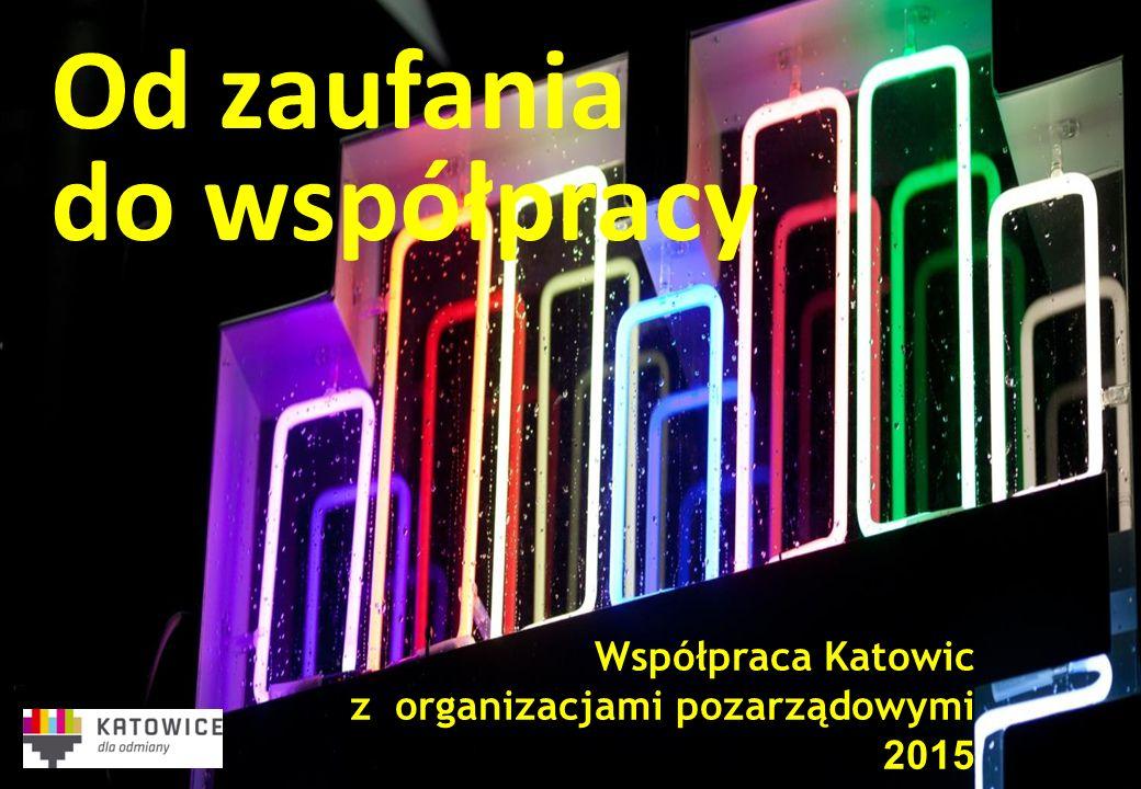 Współpraca Katowic z organizacjami pozarządowymi 2015 Od zaufania do współpracy