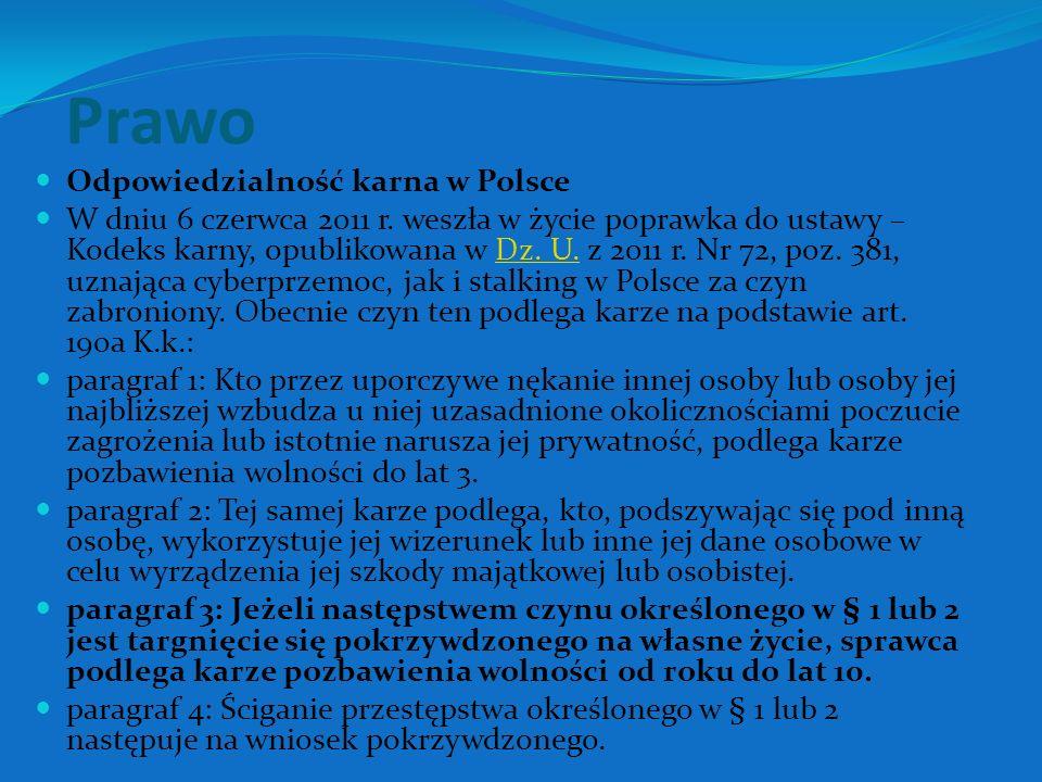 Prawo Odpowiedzialność karna w Polsce W dniu 6 czerwca 2011 r.