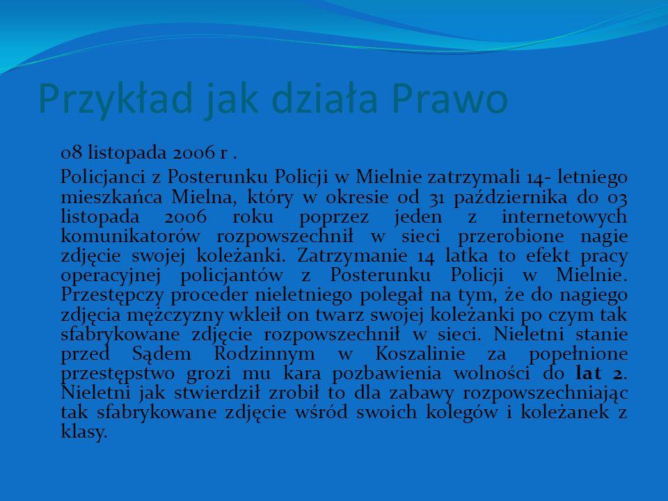 Przykład jak działa Prawo 08 listopada 2006 r.