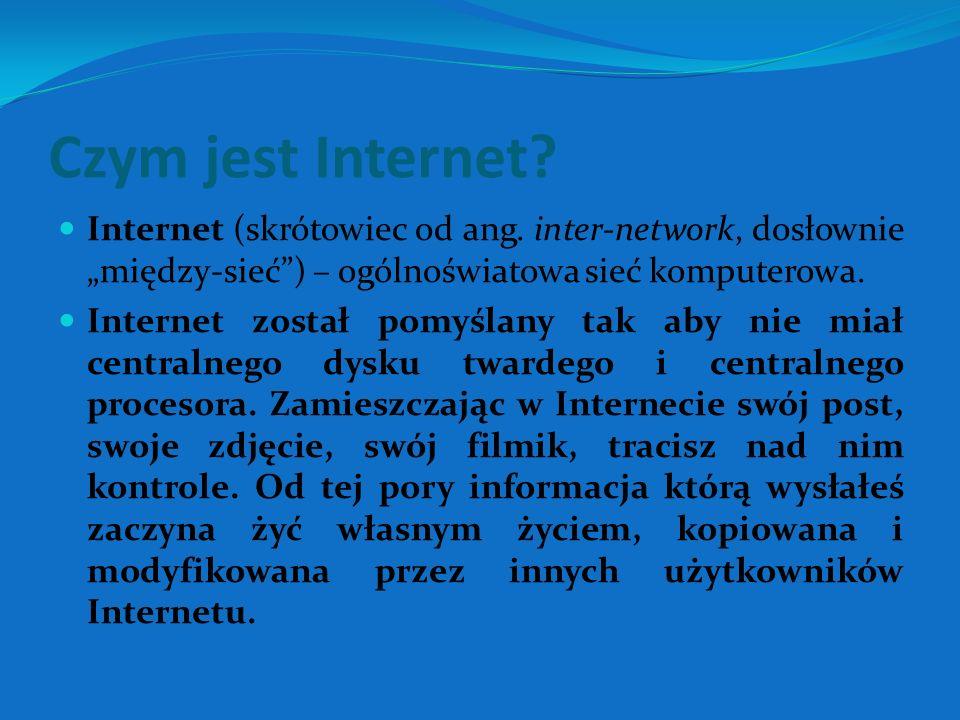 Czym jest Internet. Internet (skrótowiec od ang.
