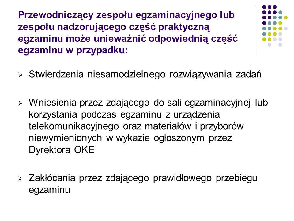 Informacje na stronie http://www.oke.krakow.pl/ Egzamin potwierdzający kwalifikacje w zawodzie http://www.zsht.pl/