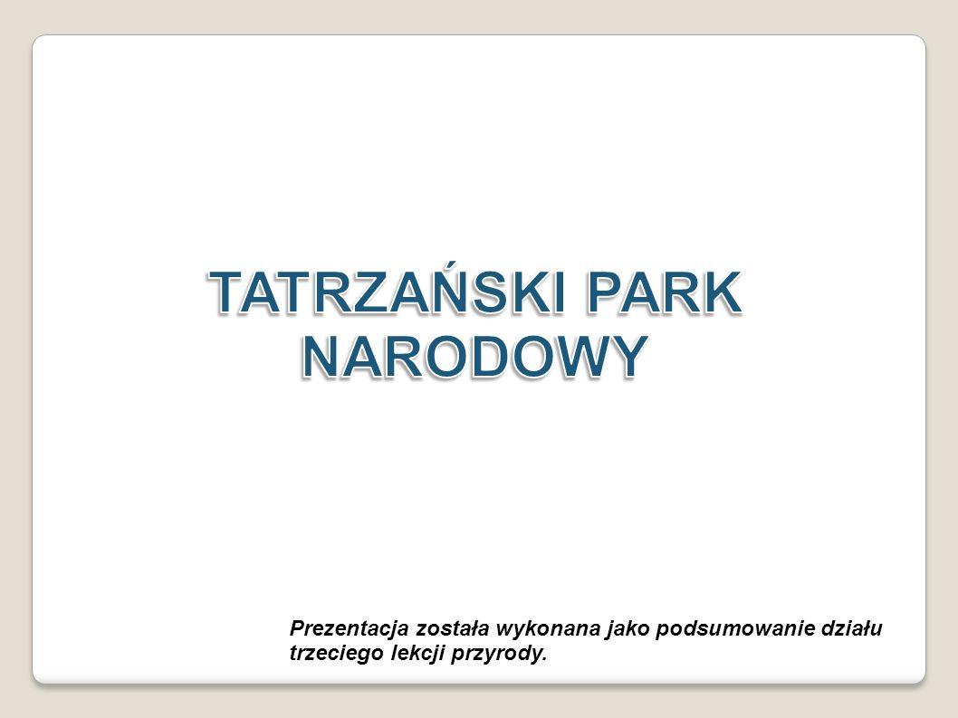 LOGO PARKU NARODOWEGO Wizerunek kozicy na logu tatrzańskiego parku narodowego przyjęto w 2009 r.