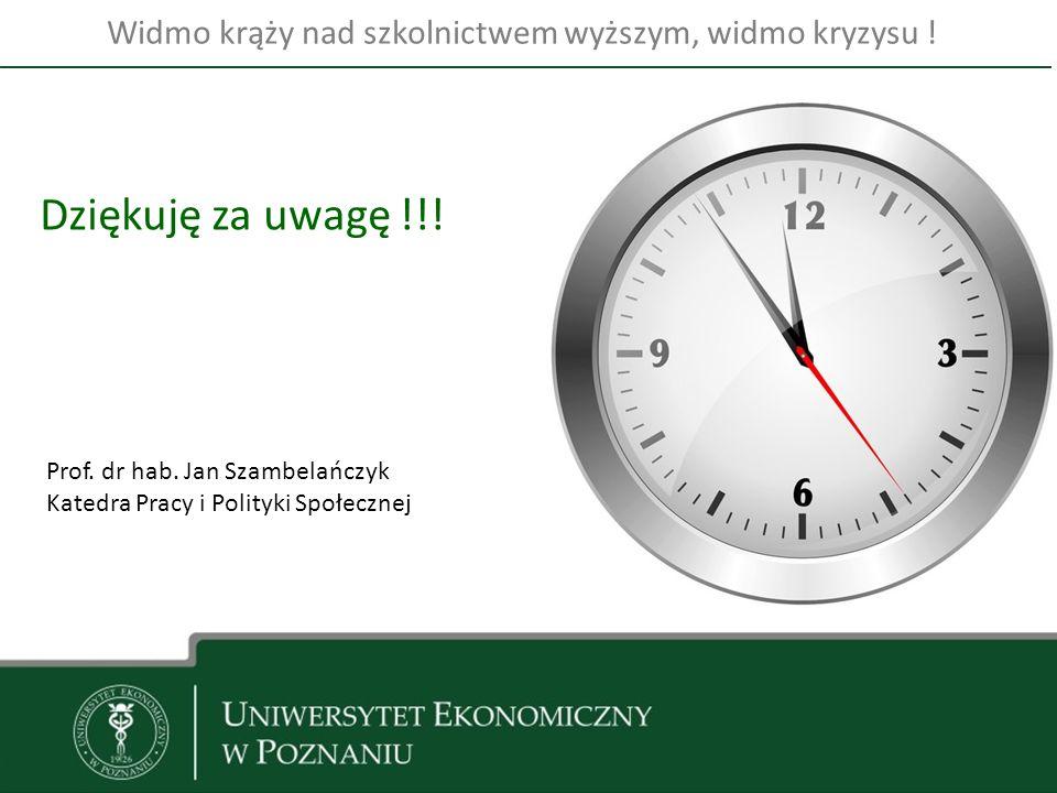 10 Dziękuję za uwagę !!. Prof. dr hab.