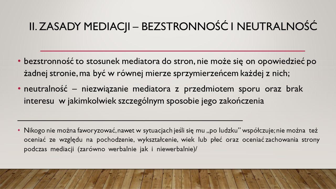 IV.RODZAJE MEDIACJI – M.