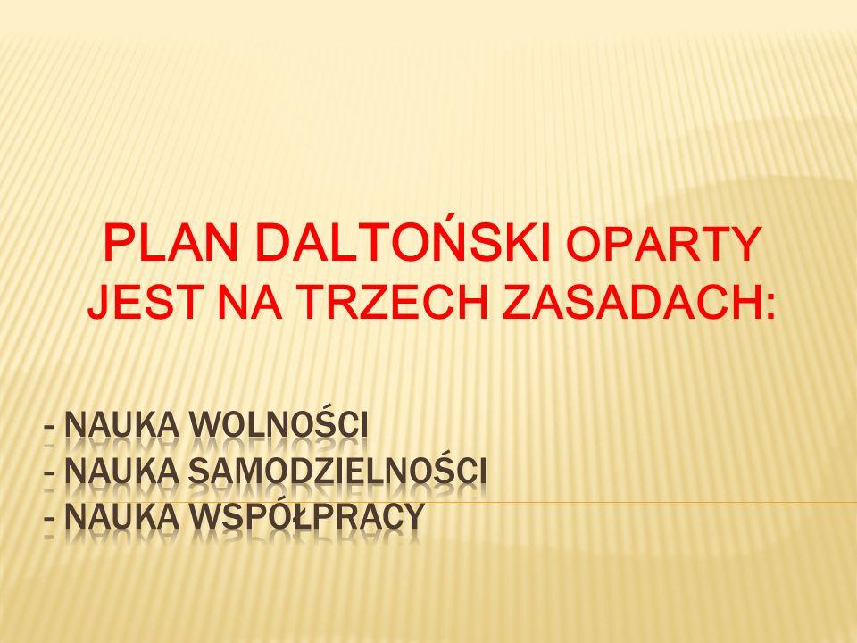PLAN DALTOŃSKI OPARTY JEST NA TRZECH ZASADACH: