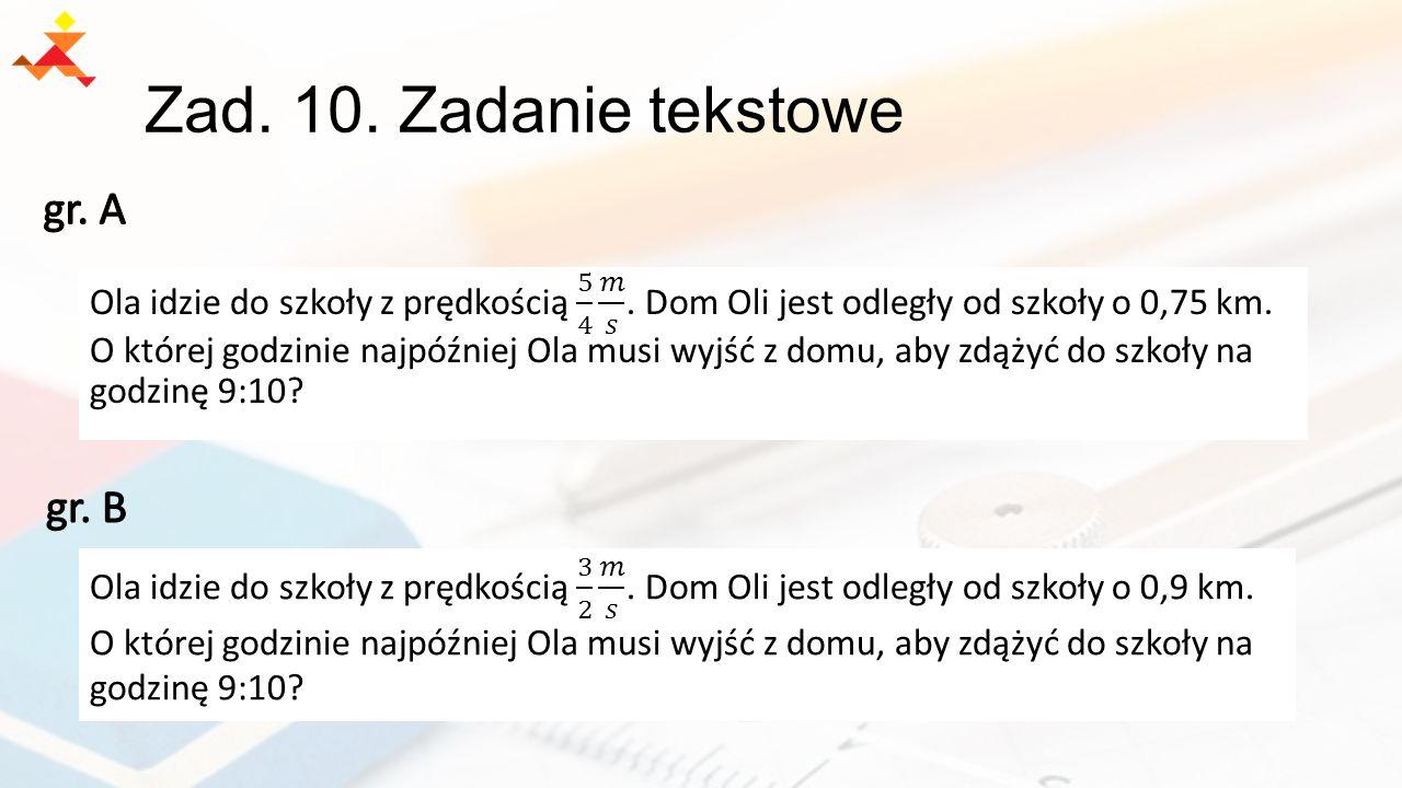 Zad. 10. Zadanie tekstowe