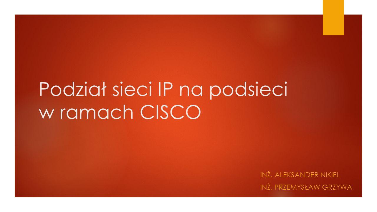 Adresy IP w podsieci.